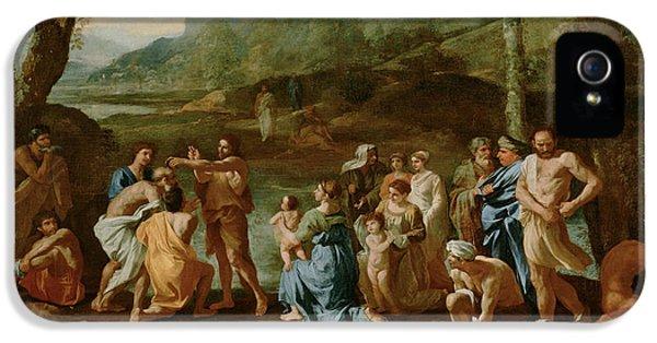 Saint John Baptizing In The River Jordan IPhone 5 / 5s Case by Nicolas Poussin