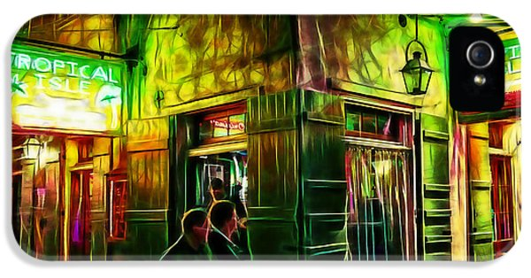 City Scenes iPhone 5 Cases - Bourbon Street Collection iPhone 5 Case by Marvin Blaine