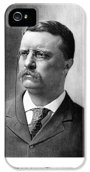 Us iPhone 5 Cases - President Theodore Roosevelt iPhone 5 Case by War Is Hell Store