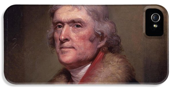 4th July iPhone 5 Cases - President Thomas Jefferson iPhone 5 Case by War Is Hell Store