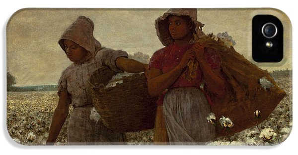 Winslow Homer iPhone 5 Cases - The Cotton Pickers iPhone 5 Case by Winslow Homer