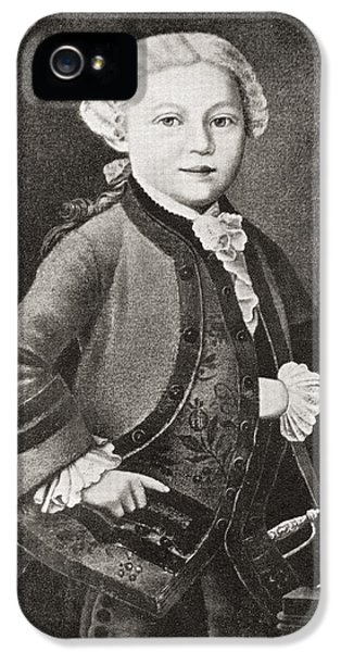 Baptize iPhone 5 Cases - Wolfgang Amadeus Mozart, 1756 - 1791 iPhone 5 Case by Vintage Design Pics