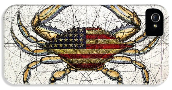4th Of July Crab IPhone 5 / 5s Case by Charles Harden