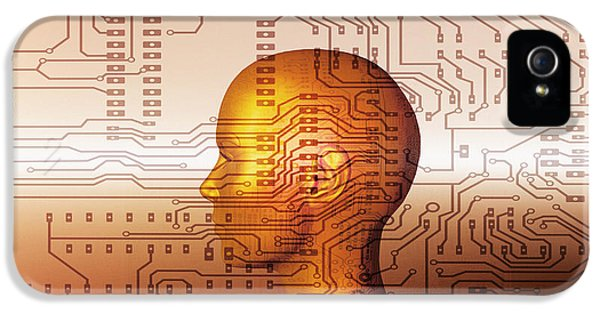 Cyborg iPhone 5 Cases - Artificial Intelligence iPhone 5 Case by Mehau Kulyk