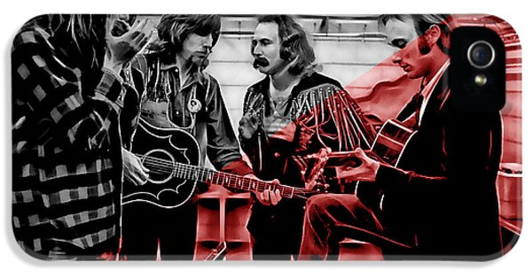Crosby Stills Nash And Young IPhone 5 / 5s Case by Marvin Blaine