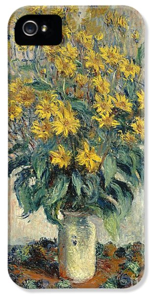 Jerusalem Artichoke Flowers IPhone 5 / 5s Case by Claude Monet