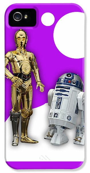 Star Wars C3po And R2d2 Collection IPhone 5 / 5s Case by Marvin Blaine