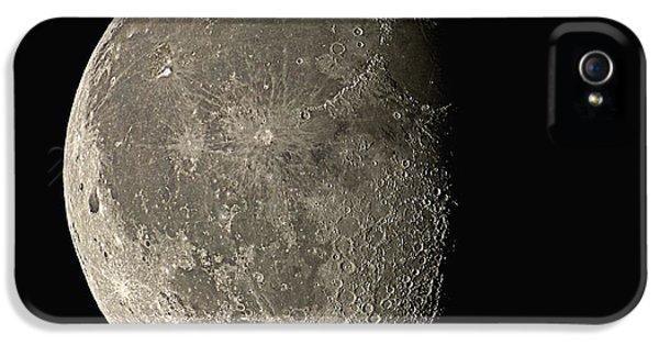 Moon iPhone 5 Cases - Waning Gibbous Moon iPhone 5 Case by Eckhard Slawik