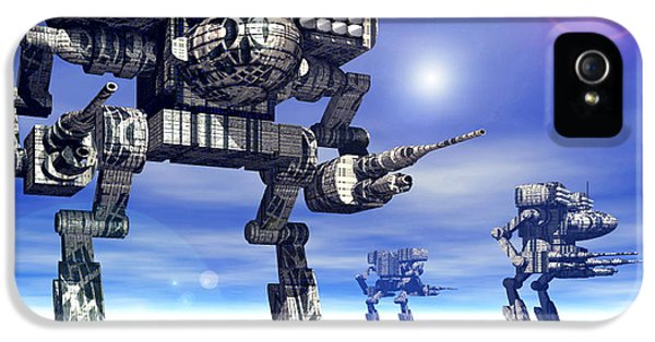 Mech iPhone 5 Cases - 501st Mech Trinary iPhone 5 Case by Curtiss Shaffer