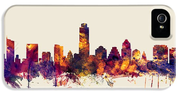 Austin Texas Skyline IPhone 5 / 5s Case by Michael Tompsett