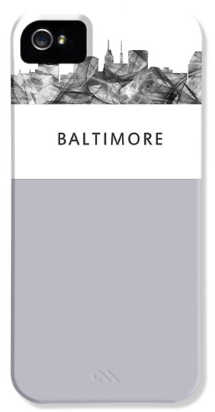 House Md Art iPhone 5 Cases - Baltimore Maryland Skyline iPhone 5 Case by Marlene Watson