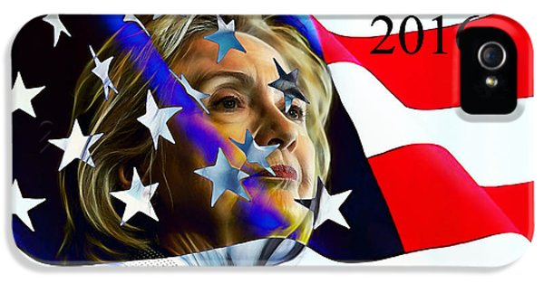 Hillary Clinton 2016 Collection IPhone 5 / 5s Case by Marvin Blaine