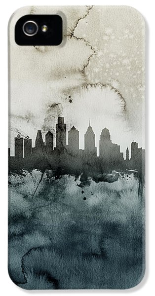 Philadelphia iPhone 5 Cases - Philadelphia Pennsylvania Skyline iPhone 5 Case by Michael Tompsett