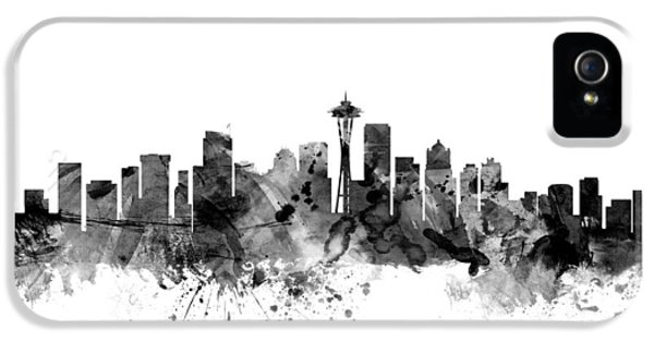 Seattle Washington Skyline IPhone 5 / 5s Case by Michael Tompsett
