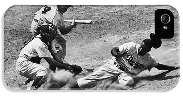 Gil iPhone 5 Cases - Jackie Robinson (1919-1972) iPhone 5 Case by Granger