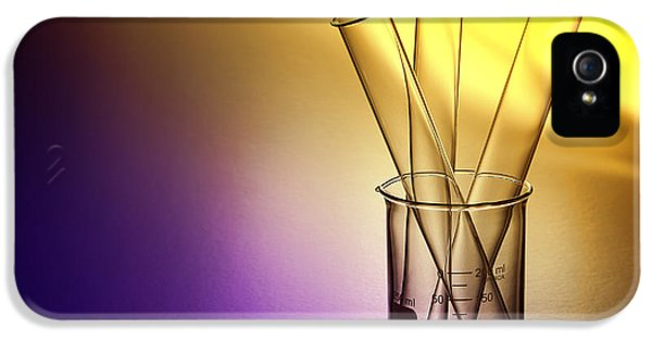 Laboratory iPhone 5 Cases - Laboratory Test Tubes in Science Research Lab iPhone 5 Case by Olivier Le Queinec