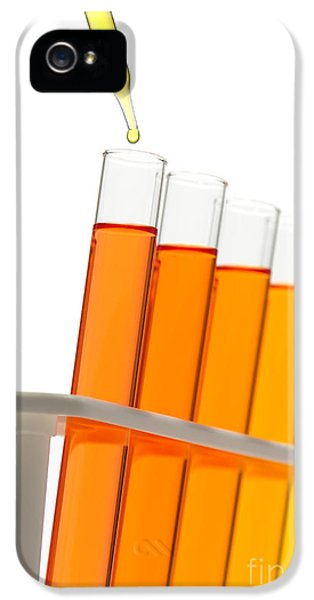 Laboratory iPhone 5 Cases - Test Tubes in Science Research Lab iPhone 5 Case by Olivier Le Queinec