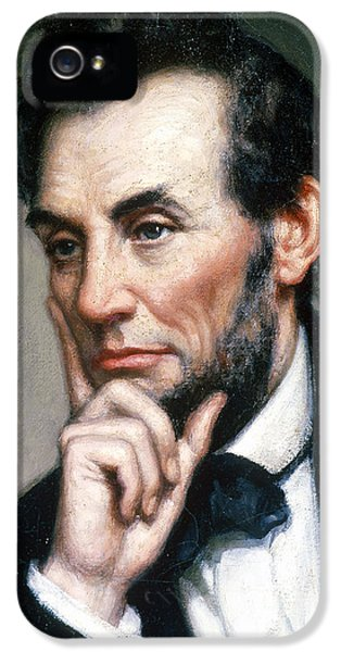 Gettysburg Address iPhone 5 Cases - Abraham Lincoln 16th American President iPhone 5 Case by Photo Researchers