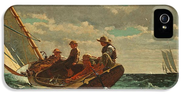 Homer iPhone 5 Cases - Breezing Up iPhone 5 Case by Winslow Homer