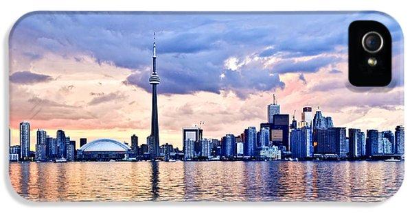 Toronto iPhone 5 Cases - Toronto skyline iPhone 5 Case by Elena Elisseeva