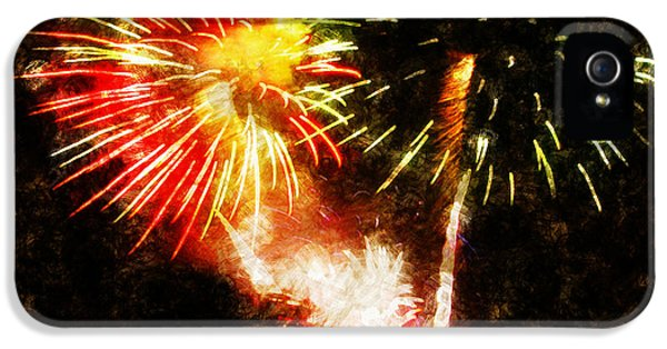 Firework iPhone 5 Cases - A 4TH Celebration  iPhone 5 Case by Adam Vance