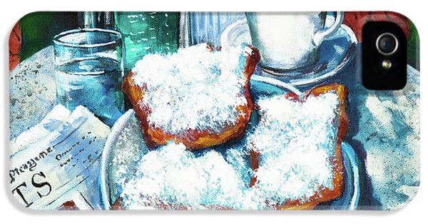 Food iPhone 5 Cases - A Beignet Morning iPhone 5 Case by Dianne Parks
