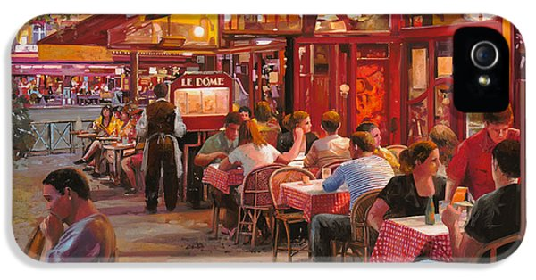 Street Scene iPhone 5 Cases - A Cena In Estate iPhone 5 Case by Guido Borelli