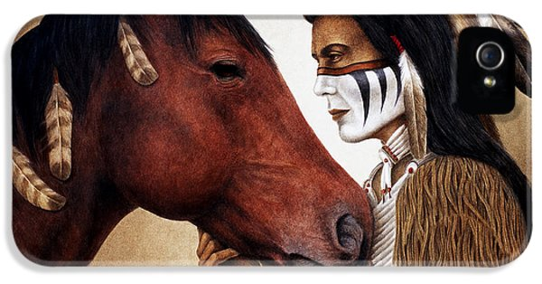 Native American iPhone 5 Cases - A Conversation iPhone 5 Case by Pat Erickson