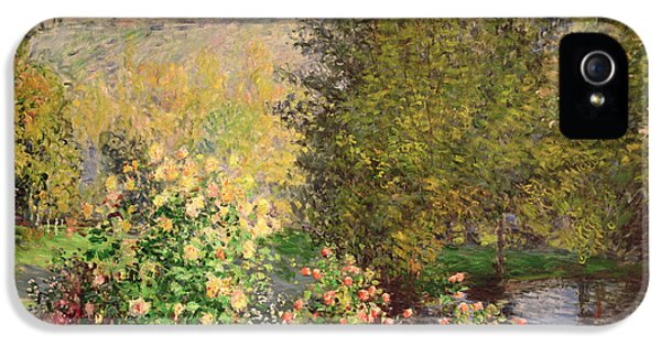 Blooms iPhone 5 Cases - A Corner of the Garden at Montgeron iPhone 5 Case by Claude Monet