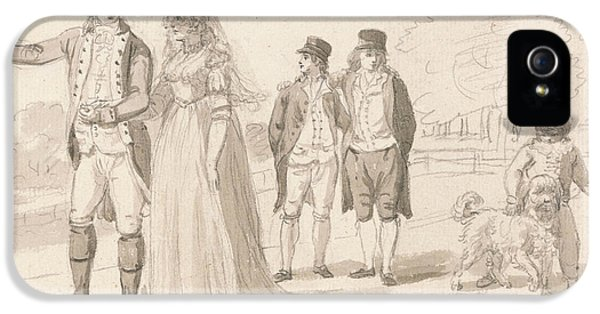 A Family In Hyde Park IPhone 5 / 5s Case by Paul Sandby
