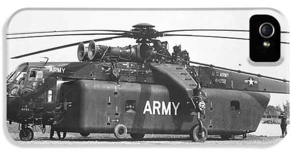 Vietnam War iPhone 5 Cases - A Large Ch-54 Skycrane Helicopter Used iPhone 5 Case by Stocktrek Images