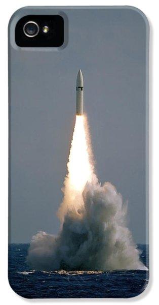 Strategic iPhone 5 Cases - A Polaris A3 Fleet Ballistic Missile iPhone 5 Case by Stocktrek Images