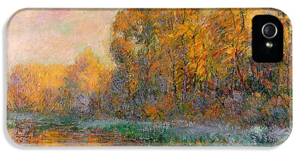 River iPhone 5 Cases - A River in Autumn iPhone 5 Case by Gustave Loiseau