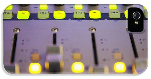 Point Of View iPhone 5 Cases - A Sound Board With Lighted Controls iPhone 5 Case by Roberto Westbrook