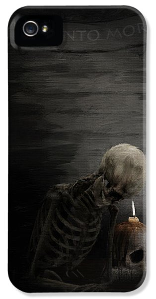 Grim Reaper iPhone 5 Cases - A Time To Remember iPhone 5 Case by Lourry Legarde