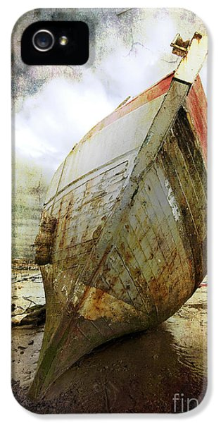 Abandoned iPhone 5 Cases - Abandoned Fishing Boat iPhone 5 Case by Meirion Matthias