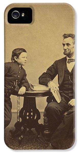 Abraham Lincoln And His Son Thomas IPhone 5 / 5s Case by Alexander Gardner