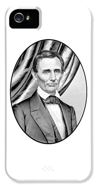 Abraham Lincoln iPhone 5 Cases - Abraham Lincoln Circa 1860 iPhone 5 Case by War Is Hell Store