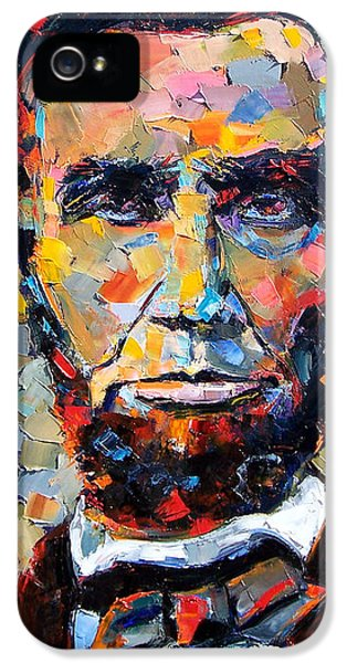 Abraham Lincoln Portrait IPhone 5 / 5s Case by Debra Hurd