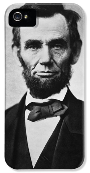 Abraham Lincoln iPhone 5 Cases - Abraham Lincoln iPhone 5 Case by War Is Hell Store