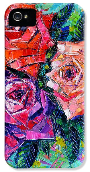 Abstract Bouquet Of Roses IPhone 5 / 5s Case by Mona Edulesco