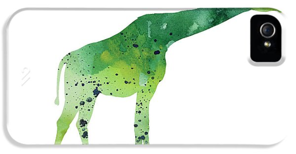 Abstract Green Giraffe Minimalist Painting IPhone 5 / 5s Case by Joanna Szmerdt