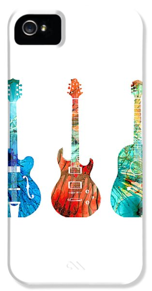 Abstract Guitars By Sharon Cummings IPhone 5 / 5s Case by Sharon Cummings