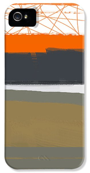 Expressive iPhone 5 Cases - Abstract Orange 1 iPhone 5 Case by Naxart Studio