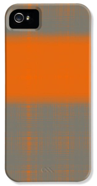 Expressive iPhone 5 Cases - Abstract Orange 3 iPhone 5 Case by Naxart Studio