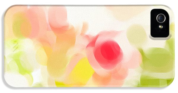Carnations iPhone 5 Cases - Abstract roses iPhone 5 Case by Tom Gowanlock