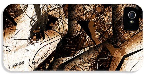 Burnt Umber iPhone 5 Cases - Abstracta_25 Burnt Umberstrat iPhone 5 Case by Gary Bodnar