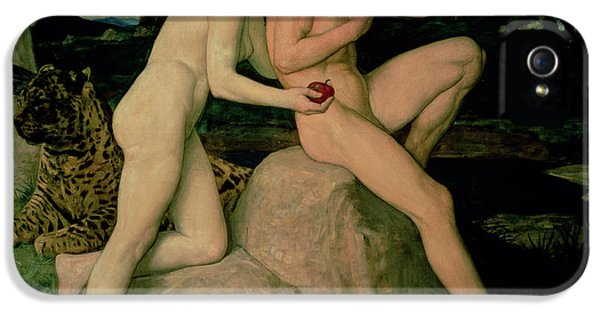 Adam And Eve  IPhone 5 / 5s Case by William Strang