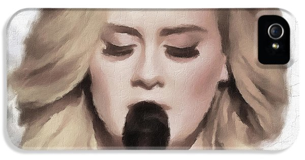 Adele Portrait Hello IPhone 5 / 5s Case by Yury Malkov