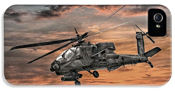 Ah-64 Apache Attack Helicopter IPhone 5 / 5s Case by Randy Steele